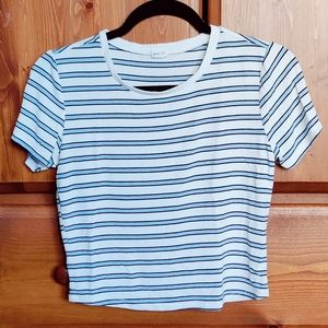 *2 FOR $16/$10 EACH* Garage Striped Ribbed Tee